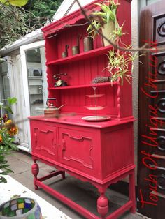 Second Hand Household Furniture, Buy and Sell Distressed Furniture, Upcycled Furniture, Furniture Making, Cool Furniture, Painted Furniture, Painted China Cabinets, Painted Buffet, Painted Sideboard, Shabby Chic Sideboard