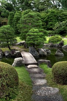 Japanese gardens i adore japanese gardens the neatness calmness delicate trees rocks water - Jardin moderne zen villeurbanne ...