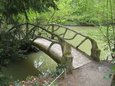 Rustic bridge in France.
