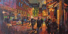 Comptons, Romily Street, London 48ins x 24ins oil on canvas. by Jamel Akib www.jamelakib.com