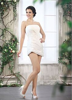 Chic Satin & Chiffon Mermaid Strapless Neckline 2 In 1 Wedding Dresses With Lace Appliques
