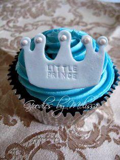 12 fondant little prince crowns (EDIBLE)