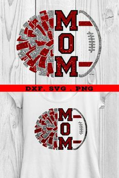 Great design for all the cheer mom and lovers of football Cute Cheer Shirts, Cheer Coach Shirts, Sports Mom Shirts, Cheerleading Shirts, Football Mom Shirts, Cheer Coaches, Football Spirit, Football Cheer, Kids Cheering