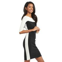 chaps color block black and white dress | BLACK AND WHITE DRESSES FOR WOMEN