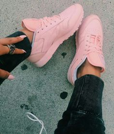 Pink reebok classics