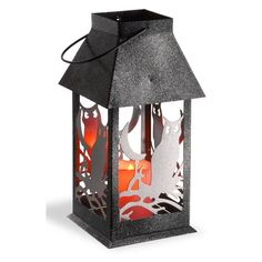 National Tree Company 11.6 in. Owl Lantern with LED Lights - RAH-HS6X002B-1