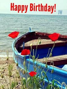 Simples placeres / Simple pleasures So lovely.the poppies, the blue boat and the eternal sea. Beautiful World, Beautiful Places, Beautiful Pictures, Blue Boat, Red Poppies, Red Tulips, Red Flowers, Simple Pleasures, Belle Photo