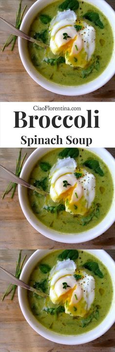 Broccoli Spinach Soup Recipe, vegetarian and paleo | CiaoFlorentina.com @CiaoFlorentina