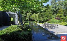 Stoop Tuinen - Strakke tuin tegen groene wand - Hoog ■ Exclusieve woon- en tuin inspiratie.
