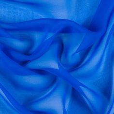 Princess Blue Silk Chiffon