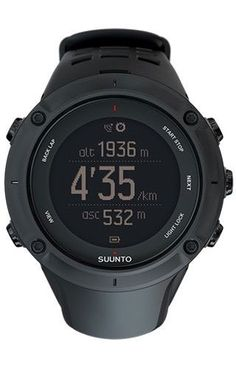 Suunto Ambit3 Peak GPS Heart Rate Monitor Black, One Size – Men's        Product Features  Claimed Weight: 3.14 oz Low Battery Indicator: yes Chronograph: yes Date Indicator: yes Calorie Counter: yes     Product Description Track your heart rate, as well as all kinds of other data... #Watches  #Ambit3, #Black, #Heart, #MenS, #Monitor, #Peak, #Rate, #Size, #Suunto