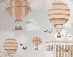 Little Hands Wallpaper Mural -  Balloon Ride II