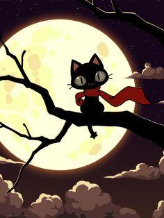 ideas for cats art illustration moonlight Otaku, Crazy Cat Lady, Crazy Cats, Tikki Y Plagg, Gamer Cat, Cat Pose, Cat Behavior, Cat Wallpaper, Cat Sleeping