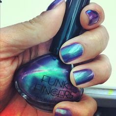 One of the most striking colors ever.  Radiant duochrome in Venom.  Funky AND coming to Five Below soon.