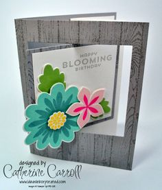 Flower Patch by Stampin' Up! for a pop out swing card