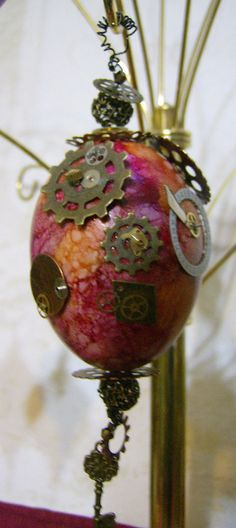Steampunk Egg Ornament