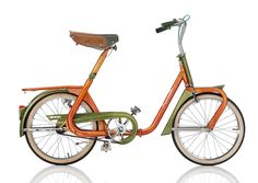 """This stylish vintage Italian folding bike was called the """"Duemila"""" or """"2000"""" in English.  It was made by Cesare Rizzato & Co. in Padua, Italy and introduced to the public with a futuristic space theme at the Fiera di Milano trade fair in 1965.   Cesare Rizzato went onto make other folding bikes under the """"Ceriz"""" brand name in the 1970's."""
