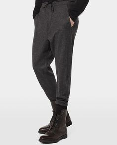 The Kooples - FLANNEL JOGGER WITH CONTRASTING DETAIL