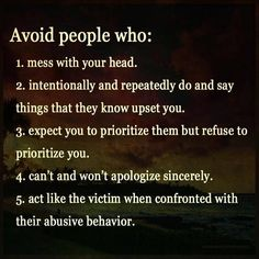 Avoid people who