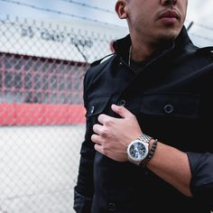 The Morning Star Spike Bracelet in black Titanium with the @luminoxworld #f22 watch | Shop now at http://ift.tt/1V3EwjM