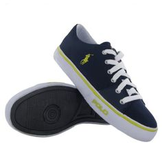 Team up with jeans, trousers & summer shorts. - Polo Ralph Lauren Cantor Low Navy Mens Trainers