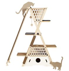 Cat shelf--no tutorial but great design for out kitchen