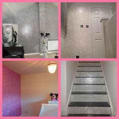 Our glitter wallpaper is now available in silver, hot pink and Iridescent White  can be purchased straight from the website and includes FREE SHIPPING xx