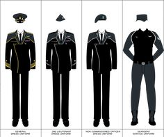 ATD Space Military Uniform by Apocryphea on DeviantArt Security Uniforms, Military Ranks, Military Uniforms, Military Drawings, Anime Military, Future Soldier, Future Clothes, Uniform Design, Armor Concept