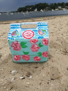 Hand Painted Cooler: Playmate Mini by ChelseaByChelsea on Etsy https://www.etsy.com/listing/400896687/hand-painted-cooler-playmate-mini