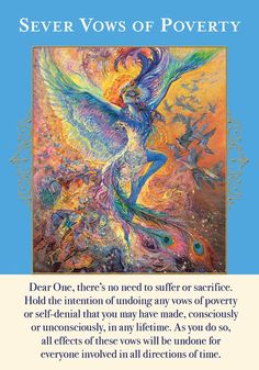 Oracle Card Sever Vows Of Poverty | Doreen Virtue - Official Angel Therapy Website