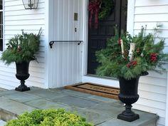 DIY Winter Planter Arrangements  http://www.thegreenrobe.com/blog/2017/11/26/easy-holiday-planter-arrangements