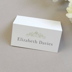 I've just found Eva Wedding Name Place Cards. Add the finishing touch to your wedding tables with these personalised name place cards. . £1.50