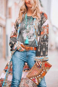 Let's go boho chic! With this amazing bohemian style kimono called the Let's Dance Robe from FreePeople you will turn heads!