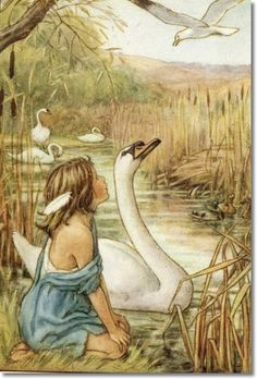 Lord of the Rushie River- by Cicely Mary Barker (She writes and illustrates the Flower Fairies books)- one of my childhood favorites, and the artwork is beautiful.