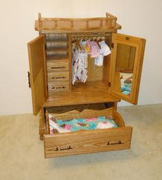 Doll Armoire With Doll Bed (2639)