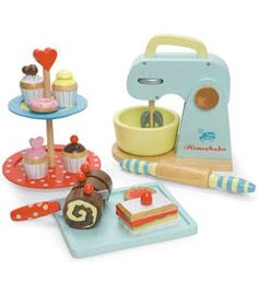 Cute wooden kitchen toys