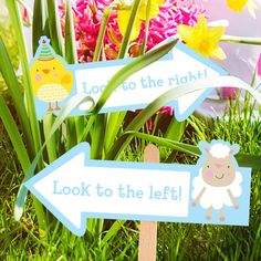 Free Printable Easter Egg Hunt Signs, several different ones.