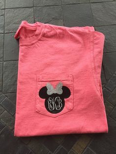 Minnie Mouse Inspired Monogram Glitter Comfort by ThePrincessPrep