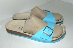 b6a0891f4364 Women s Tula by Birkenstock Blue Leather Sandals Size 12 (US)  Birkenstock   Sandals