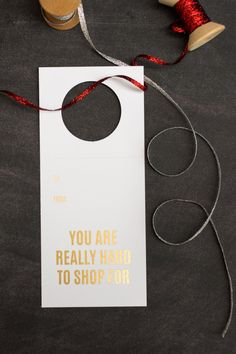 You never keep those wine bags anyway so why not knock out a card and bag at once? Our Holiday Gold Collection of Wine & Spirit Tags are gold foil