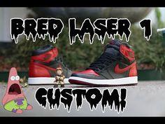 fc3a0527e22 Air Jordan Bred Laser 1 Custom Time-Lapse! - YouTube