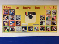 instagram-bulletin-board-art-class- fun board ideas, need to look through this site later