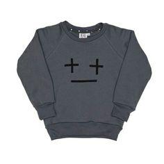 Beau LOves Grey Cross Face Sweatshirt