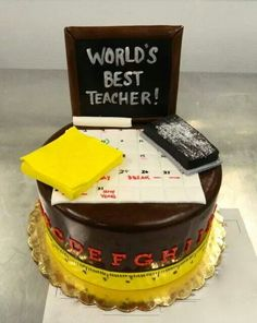 Cake Boss on TLC Facebook post:  National Teacher Appreciation Day cake 2014.