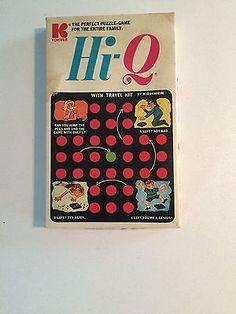 Retro Hi-Q Puzzle Game by Kohner 1972 Travel Game