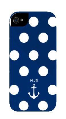 Minnie & Emma - Anchor Dot Phone or iPad Case w/ monogram