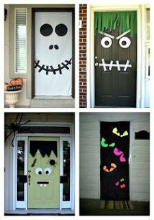 Pinterestita Creadora Decoracion De Puerta Para Halloween Decoraciones Caseras De Halloween Decoracion De Fiesta De Halloween Diy Decoracion De Halloween