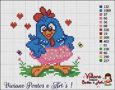 Viviane Pontos e Art's: Gráfico de Galinha pintadinha de Saia