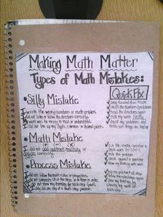 Tales of a High School Math Teacher: Notebook Set-Ups - Mathe Ideen 2020 Math Tutor, Math Teacher, Math Classroom, Teaching Math, Math Math, Classroom Organization, Math Fractions, Classroom Ideas, Math Games