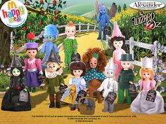 "The Wizard of Oz, Madame Alexander ""Happy Meal"" dolls - I want these!"